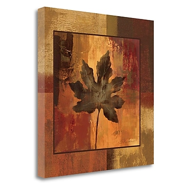 Tangletown Fine Art 'October Leaf I' by Silvia Vassileva Graphic Art on Wrapped Canvas