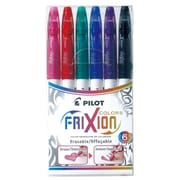 Pilot Frixion Colours Erasable Marker Pen Set, Assorted, 6/Pack