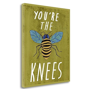 Tangletown Fine Art 'Bees Knees' Textual Art on Wrapped Canvas; 21'' H x 18'' W