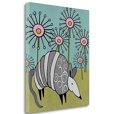 Tangletown Fine Art 'Armadillo' Graphic Art Print on Wrapped Canvas; 30'' H x 25'' W