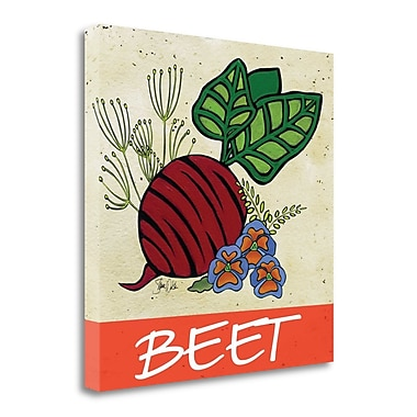 Tangletown Fine Art 'Beet' Graphic Art Print on Wrapped Canvas; 35'' H x 35'' W