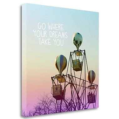 Tangletown Fine Art 'Where Dreams Take You' Graphic Art Print on Wrapped Canvas; 20'' H x 20'' W