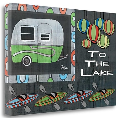 Tangletown Fine Art 'To the Lake I' Graphic Art Print on Canvas; 32'' H x 48'' W