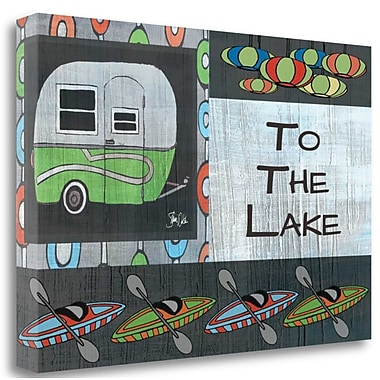 Tangletown Fine Art 'To the Lake II' Graphic Art Print on Canvas; 16'' H x 24'' W