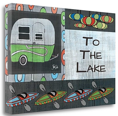 Tangletown Fine Art 'To the Lake II' Graphic Art Print on Canvas; 20'' H x 29'' W