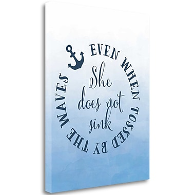 Tangletown Fine Art 'She Does Not Sink' Textual Art on Wrapped Canvas; 23'' H x 18'' W