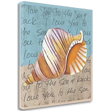 Tangletown Fine Art 'Seashell I' Graphic Art Print Print on Canvas; 35'' H x 35'' W