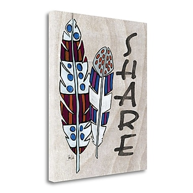 Tangletown Fine Art 'Share' Graphic Art Print on Wrapped Canvas; 30'' H x 25'' W