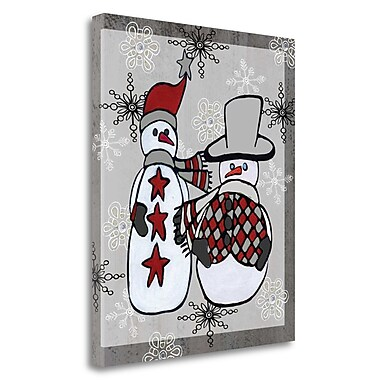 Tangletown Fine Art 'Snowman Traditional' Graphic Art Print on Wrapped Canvas; 20'' H x 16'' W