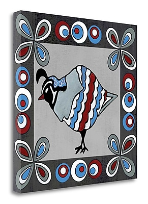 Tangletown Fine Art 'Quail II' Graphic Art Print on Wrapped Canvas; 25'' H x 25'' W