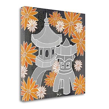 Tangletown Fine Art 'Pagoda I' Graphic Art Print on Wrapped Canvas; 35'' H x 35'' W