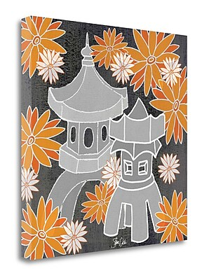 Tangletown Fine Art 'Pagoda I' Graphic Art Print on Wrapped Canvas; 30'' H x 30'' W
