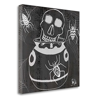Tangletown Fine Art 'Skull and Caldron' Graphic Art Print on Canvas; 20'' H x 20'' W