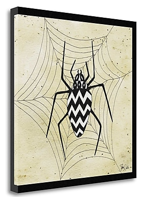 Tangletown Fine Art 'Spider Illustration II' Graphic Art Print on Canvas; 35'' H x 35'' W