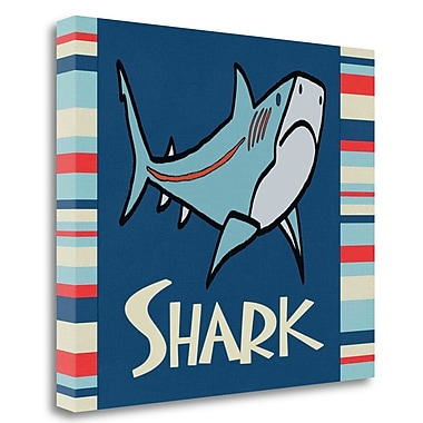 Tangletown Fine Art 'Shark I' Graphic Art Print on Wrapped Canvas; 28'' H x 33'' W