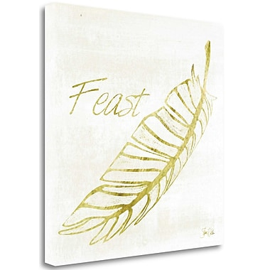 Tangletown Fine Art 'Thanksgiving Feast' Graphic Art Print on Wrapped Canvas; 18'' H x 18'' W