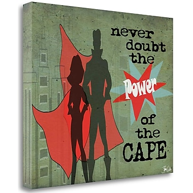Tangletown Fine Art 'Power of the Cape' Graphic Art Print on Wrapped Canvas; 25'' H x 29'' W