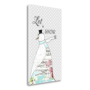 Tangletown Fine Art 'Long Scarf Snowman' Graphic Art Print on Wrapped Canvas; 34'' H x 20'' W