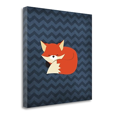 Tangletown Fine Art 'Fox III' Graphic Art Print on Wrapped Canvas; 26'' H x 26'' W