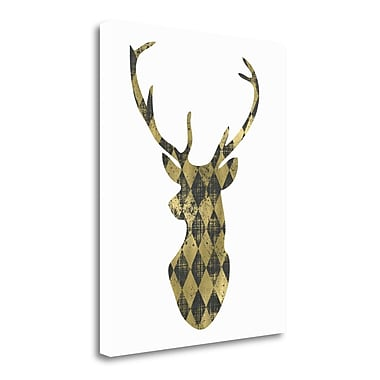 Tangletown Fine Art 'Diamond Deerhead' Graphic Art Print on Wrapped Canvas; 28'' H x 23'' W