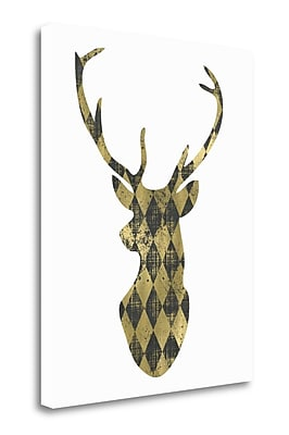 Tangletown Fine Art 'Diamond Deerhead' Graphic Art Print on Wrapped Canvas; 24'' H x 20'' W
