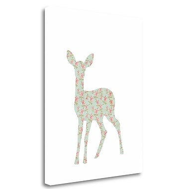 Tangletown Fine Art 'Floral Deer' Graphic Art Print on Canvas; 23'' H x 18'' W
