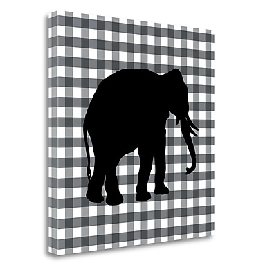 Tangletown Fine Art 'Elephant' Graphic Art Print on Wrapped Canvas; 20'' H x 20'' W