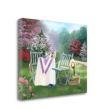 Tangletown Fine Art 'Gardeners Oasis' Print on Canvas; 18'' H x 22'' W