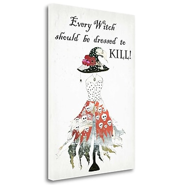 Tangletown Fine Art 'Dressed to Kill' Graphic Art Print on Wrapped Canvas; 39'' H x 28'' W