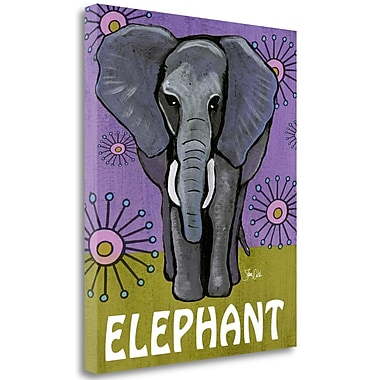 Tangletown Fine Art 'Elephant' Graphic Art Print on Wrapped Canvas; 21'' H x 18'' W