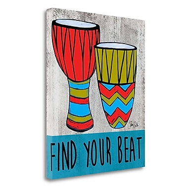 Tangletown Fine Art 'Find Your Beat' Graphic Art Print on Wrapped Canvas; 26'' H x 21'' W