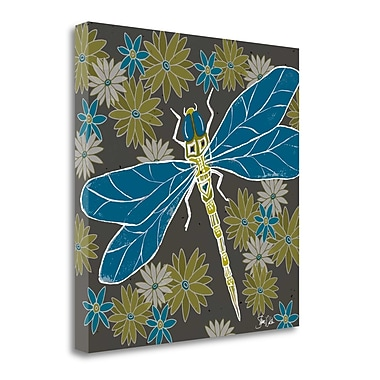Tangletown Fine Art 'Dragonfly and Floral' Graphic Art Print on Wrapped Canvas; 25'' H x 25'' W
