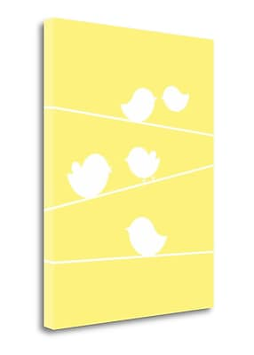 Tangletown Fine Art 'Bird on a Wire I' Graphic Art Print on Wrapped Canvas; 20'' H x 16'' W