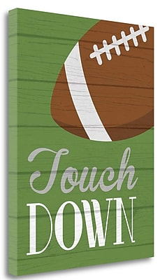 Tangletown Fine Art 'Touchdown' Textual Art on Wrapped Canvas; 28'' H x 22'' W