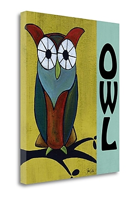 Tangletown Fine Art 'Woodland Owl ' Graphic Art Print on Canvas; 34'' H x 28'' W