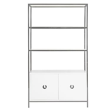 WorldsAway 2 Door Accent Cabinet; Nickel