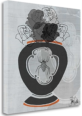 Tangletown Fine Art 'Black Roses II' Print on Wrapped Canvas; 35'' H x 35'' W