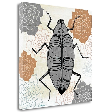 Tangletown Fine Art 'Beetle' Graphic Art Print on Wrapped Canvas; 25'' H x 25'' W