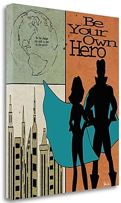 Tangletown Fine Art 'Be Your Own Hero' Print on Wrapped Canvas; 42'' H x 35'' W