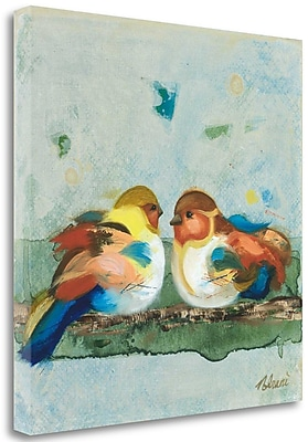Tangletown Fine Art 'The One Who Sits Beside Me' Print on Wrapped Canvas; 27'' H x 27'' W
