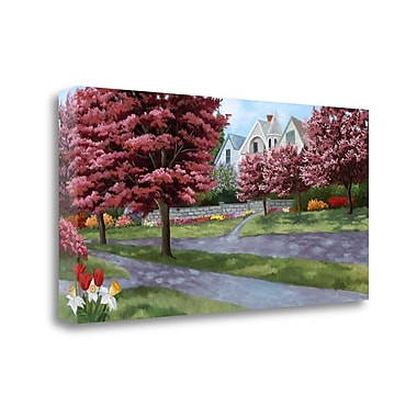 Tangletown Fine Art 'Spring Street' Print on Wrapped Canvas; 21'' H x 43'' W