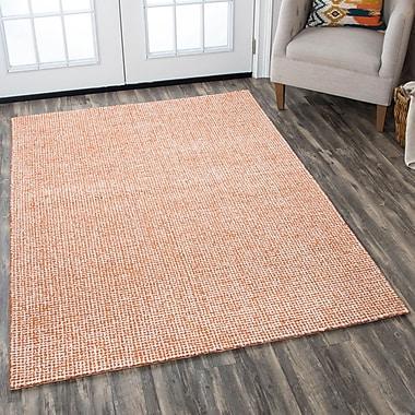 Latitude Run Lemington Hand-Tufted 100pct Wool Orange Area Rug; 8' x 10'
