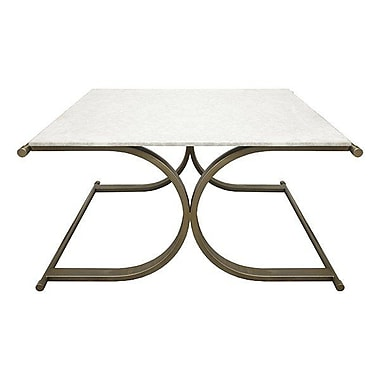 WorldsAway X Base Coffee Table; Bronze