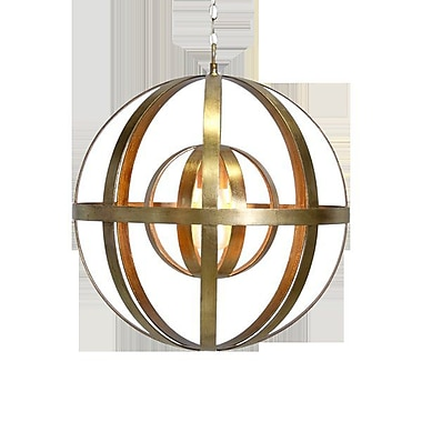 WorldsAway 1-Light Globe Pendant; Gold Leaf