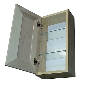 WG Wood Products Andrew Series 11'' x 29'' Surface Mount Medicine Cabinet