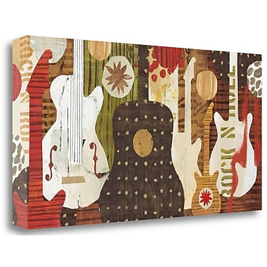 Tangletown Fine Art 'Rock and Roll Fantasy' Graphic Art Print on Canvas; 20'' H x 39'' W