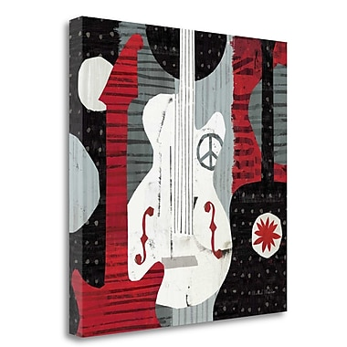 Tangletown Fine Art 'Rock and Roll Guitars' Graphic Art Print on Wrapped Canvas; 20'' H x 20'' W