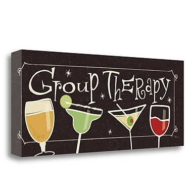 Tangletown Fine Art 'Group Therapy II' Graphic Art Print on Canvas; 13'' H x 32'' W