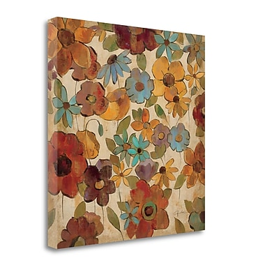 Tangletown Fine Art 'Floral Sketches III' Print on Canvas; 20'' H x 20'' W