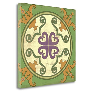 Tangletown Fine Art 'Fresh Herbs Tile I' Graphic Art Print on Wrapped Canvas; 24'' H x 24'' W